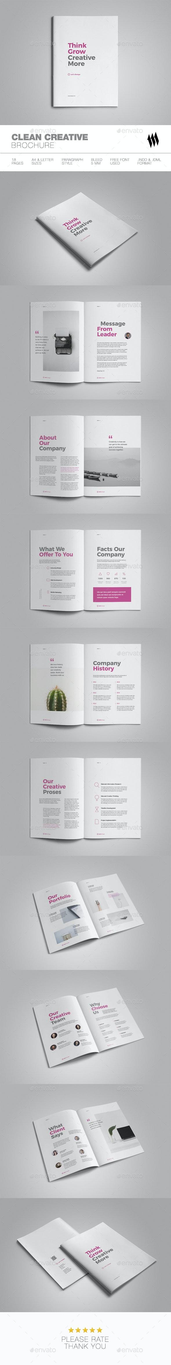 Clean Creative Brochure - Brochures Print Templates