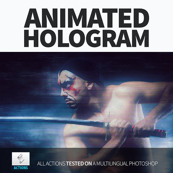 Gif Animated Hologram Photoshop Action