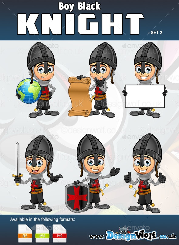 Boy Black Knight Character - Set 2 - People Characters