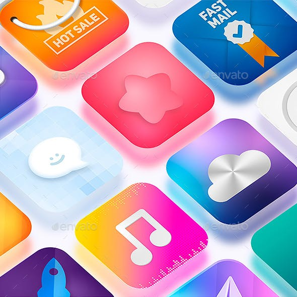 Icon App Maker - 20 PSD Mock-Ups (Part 2)