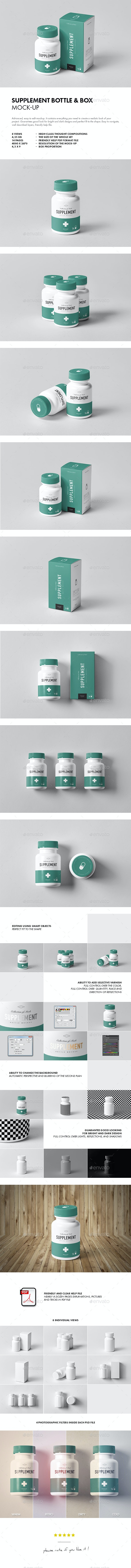 Supplement Jar & Box Mock-Up - Miscellaneous Packaging