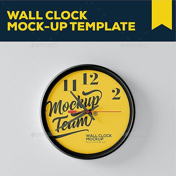 Wall Clock Mockup Template