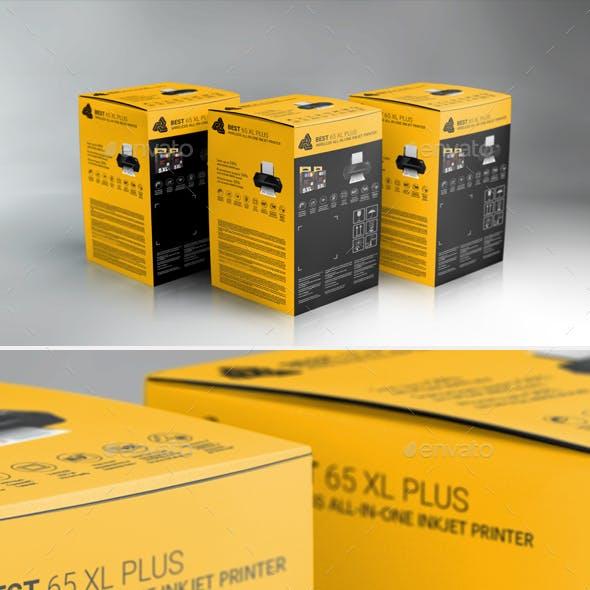 Hi-Res Photorealistic Packaging Box Mockup