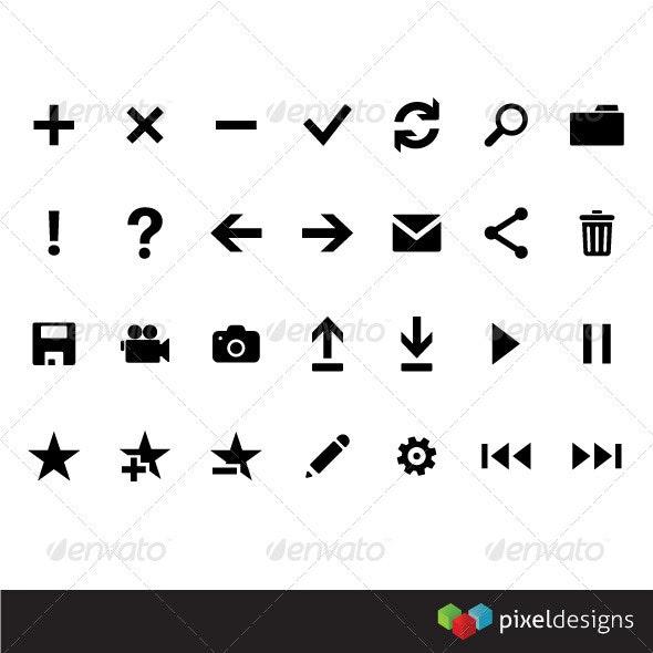 Metro Framework icons