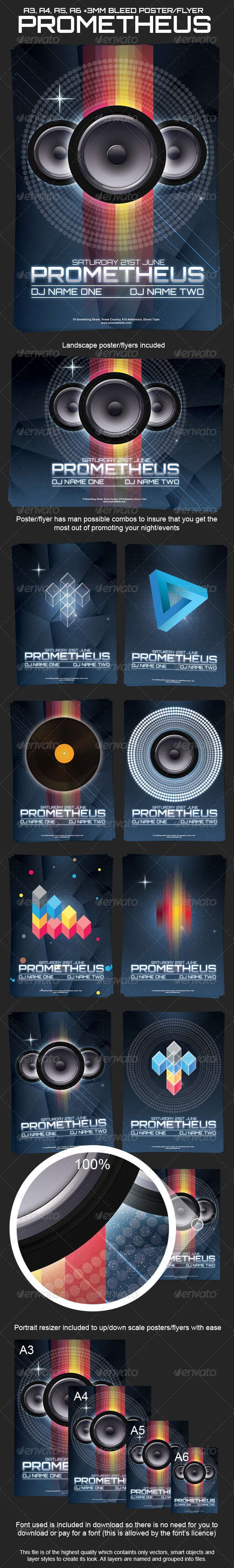 Prometheus Poster and Flyer - Clubs & Parties Events