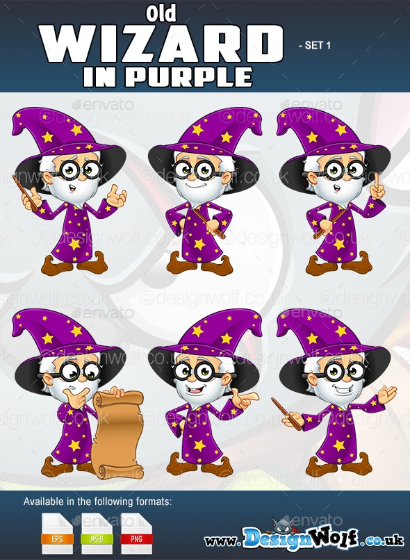 Old Wizard In Purple - Set 1 - People Characters