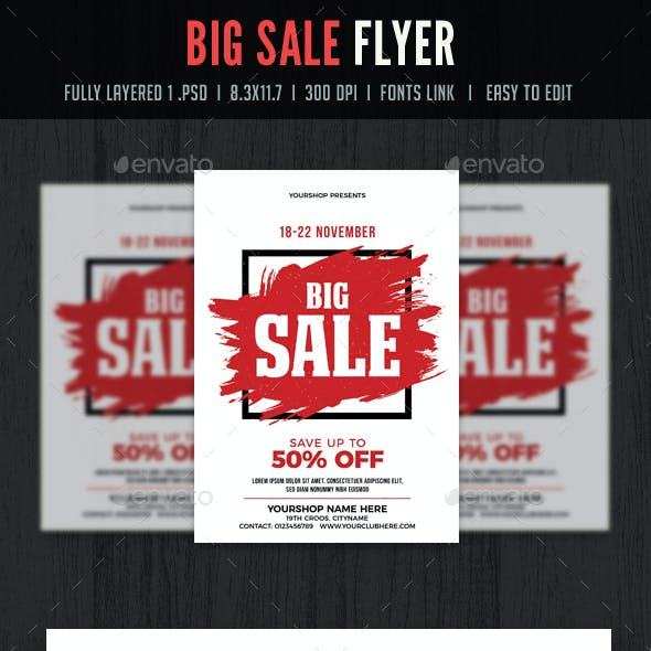 Big Sale Flyer / Poster Template