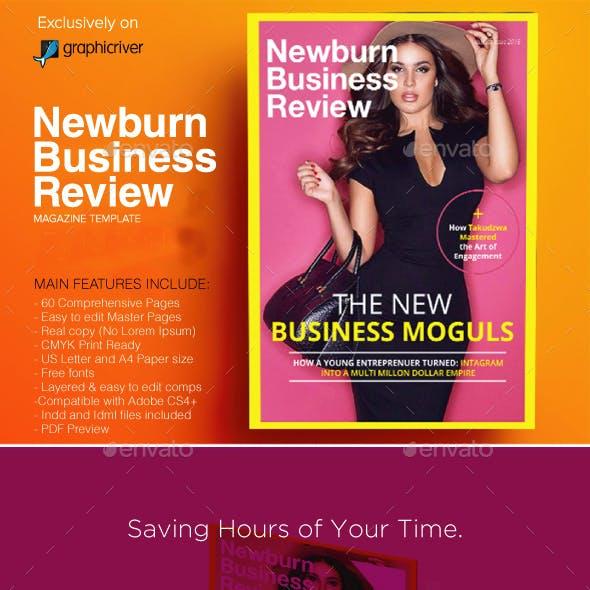 Newburn Business Review Magazine Design Template