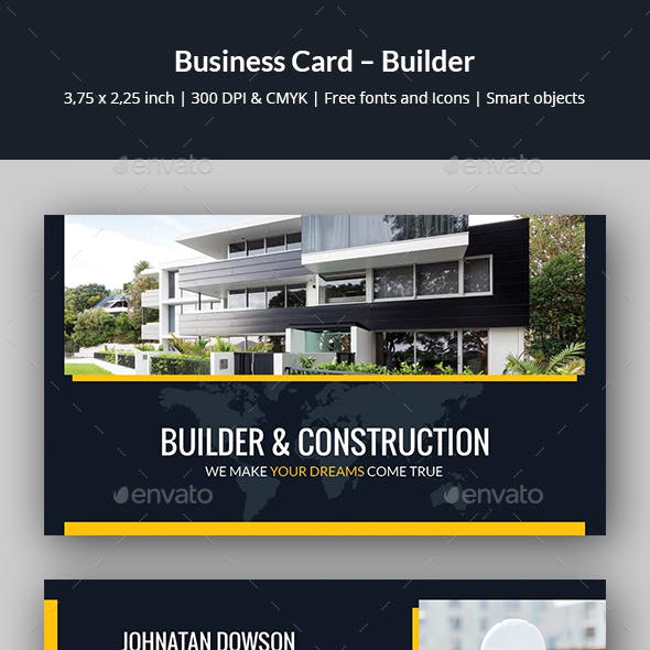Business Card – Builder by artbart