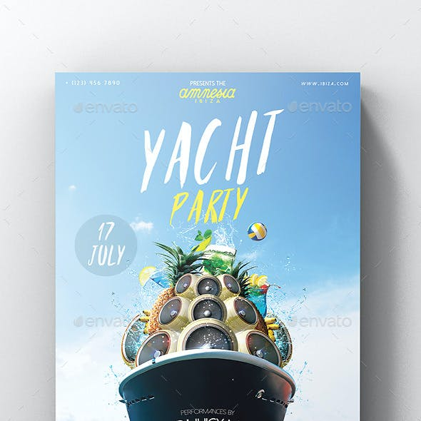 Yacht Party Flyer Vol.2