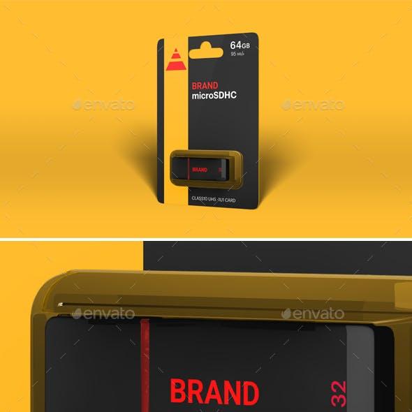 Hi-Res Photorealistic USB Drive Mockup