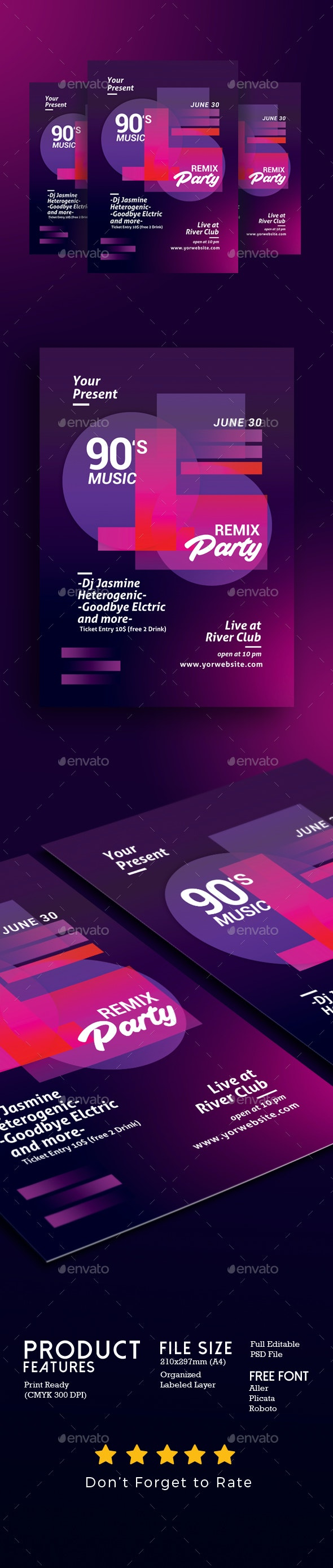 Minimal Music Flyer Template - Events Flyers