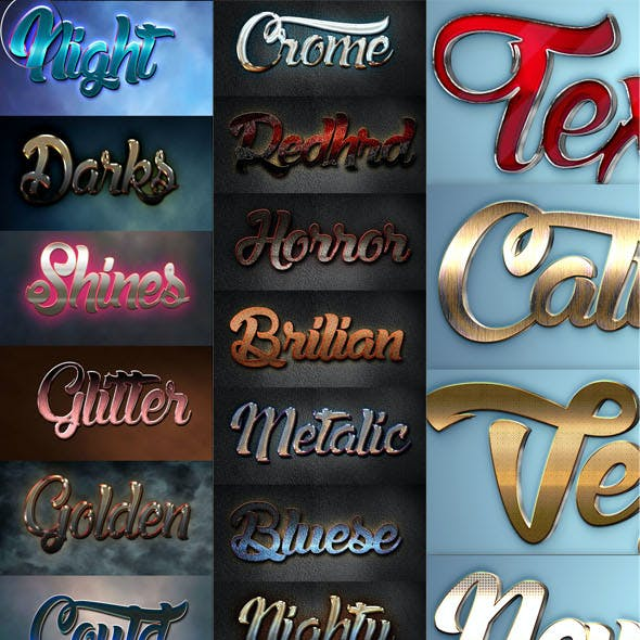 30 Bundle 3D Text Styles RA