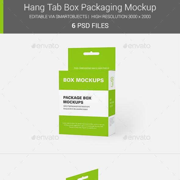 Hanging Box Packaging Mockup