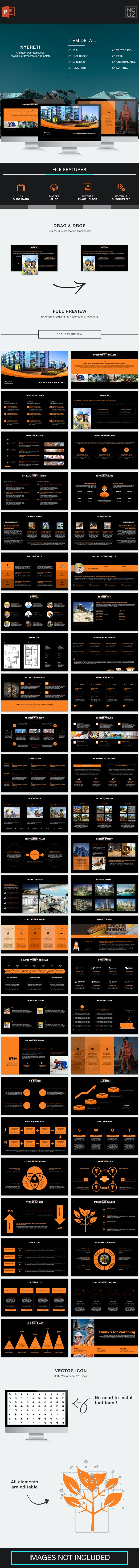 Nyereti Architectural Pitch Deck PowerPoint Template - Pitch Deck PowerPoint Templates