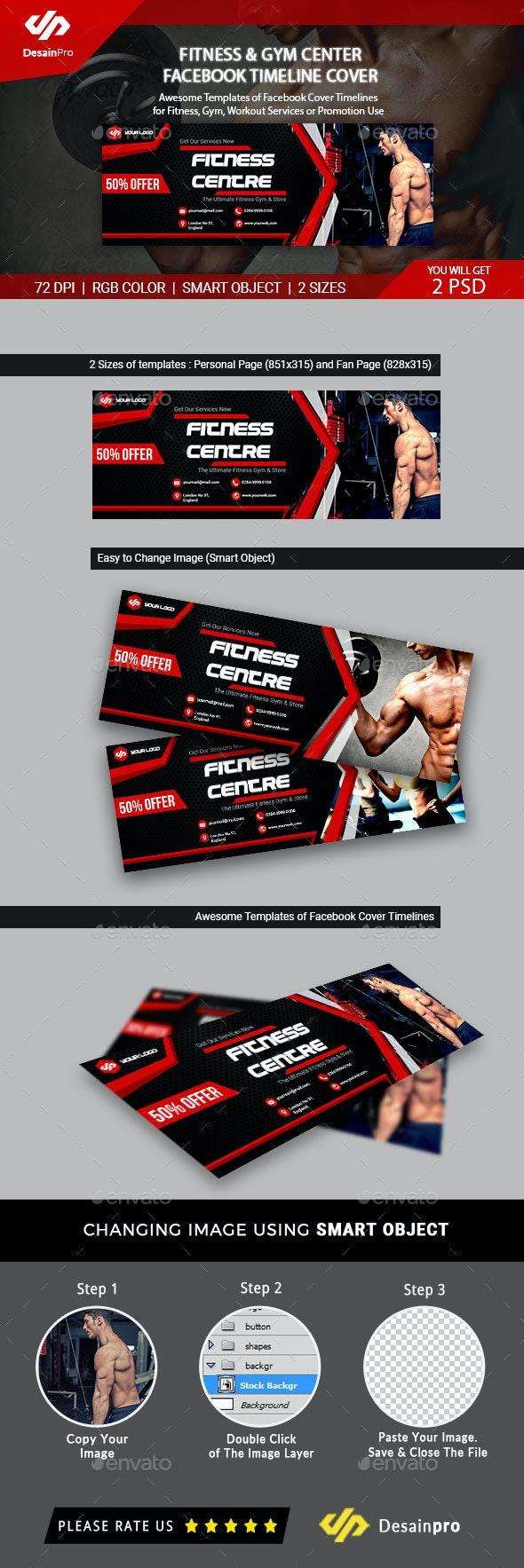 Fitness & Gym Facebook Cover Timeline - AR - Facebook Timeline Covers Social Media