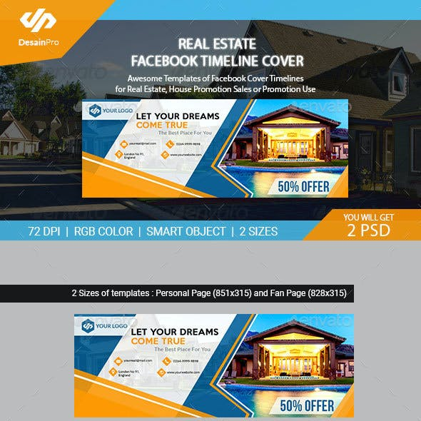 Real Estate Facebook Cover Templates - AR