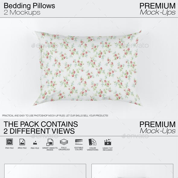 Bedding Pillows Mockup
