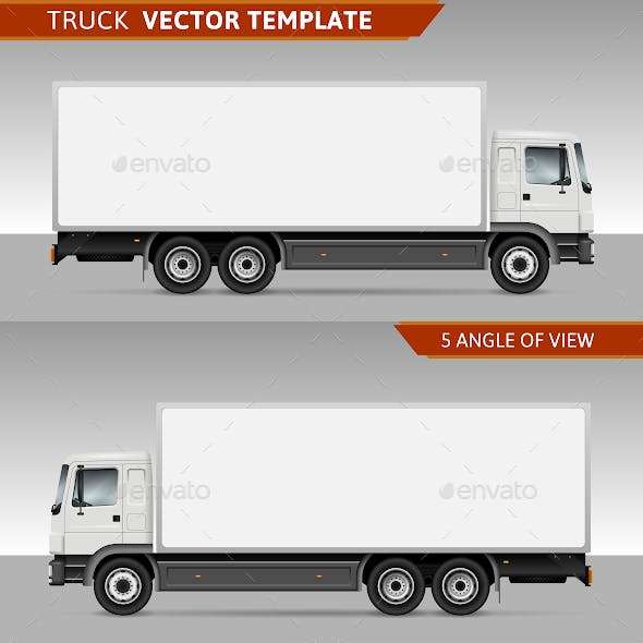 Delivery truck Vector template
