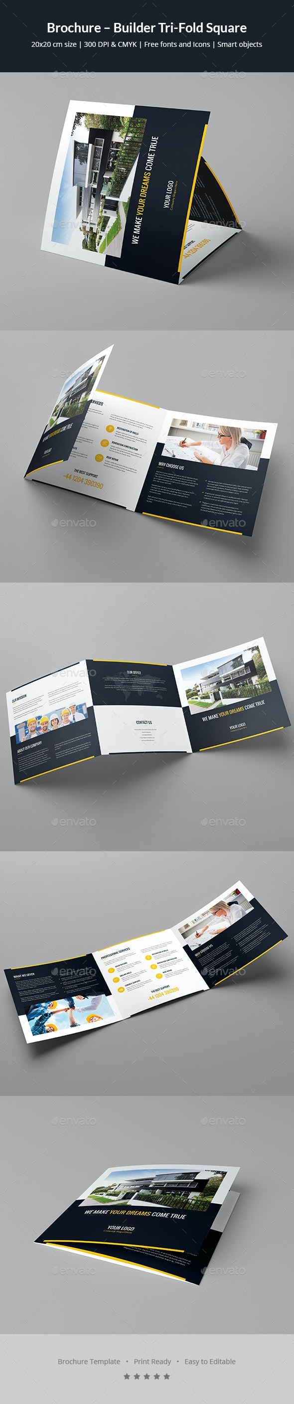 Brochure – Builder Tri-Fold Square - Corporate Brochures