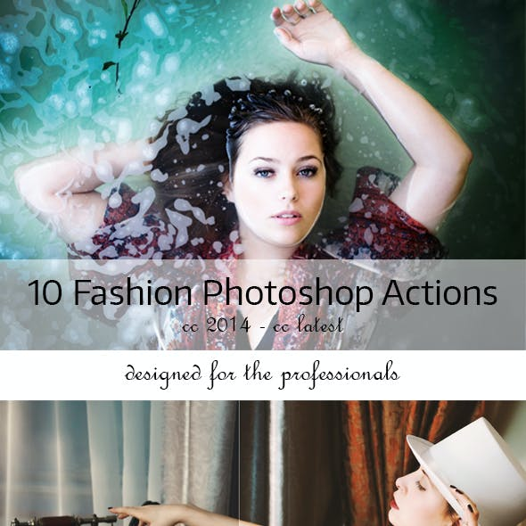 10 Fashion Photoshop Actions
