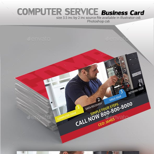 Computer Repair Service Business Card