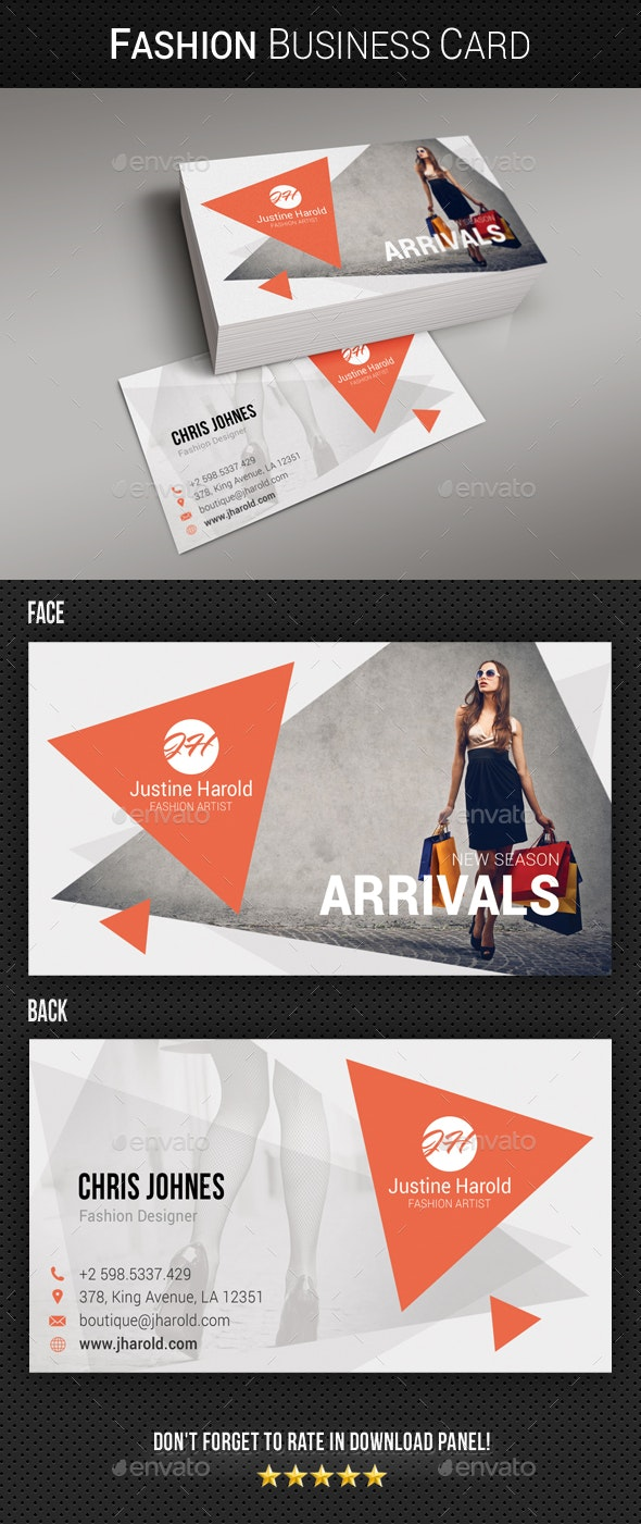 Fashion Business Card 10 By Rapidgraf Graphicriver