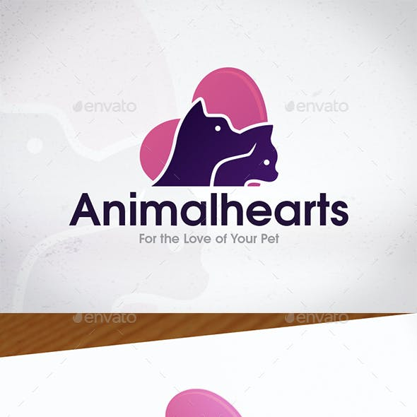 Animal Hearts Logo Design