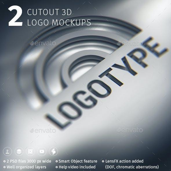 2 Cutout 3D Logo Mockups
