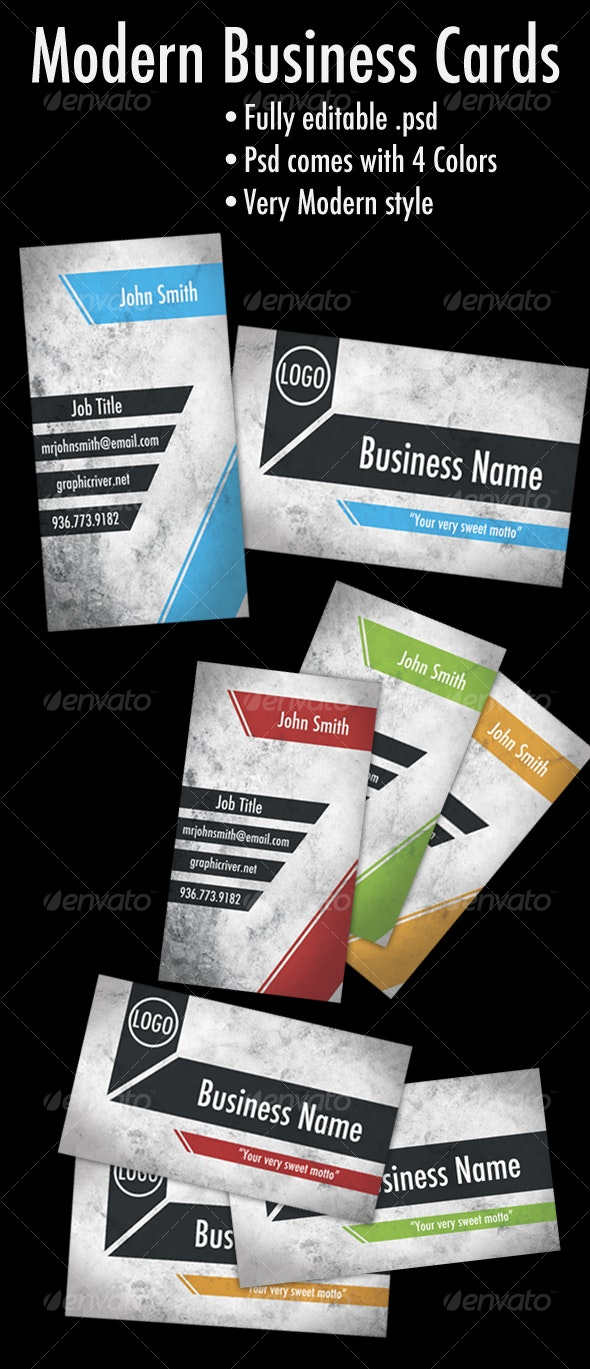 Modern/Techno Business Cards - Grunge Business Cards