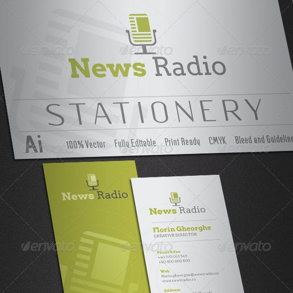 News Radio Stationery