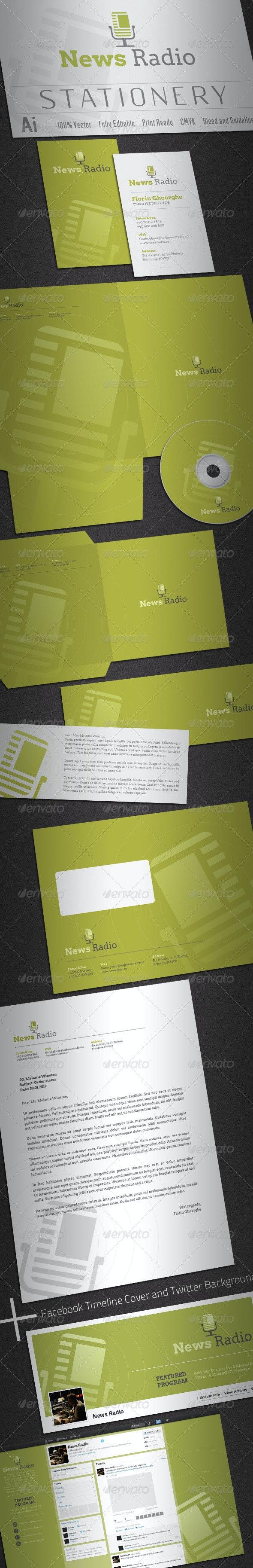 News Radio Stationery - Stationery Print Templates