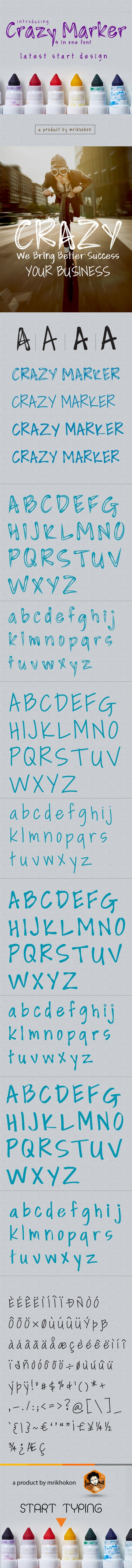 Crazy Marker - Handwriting Fonts