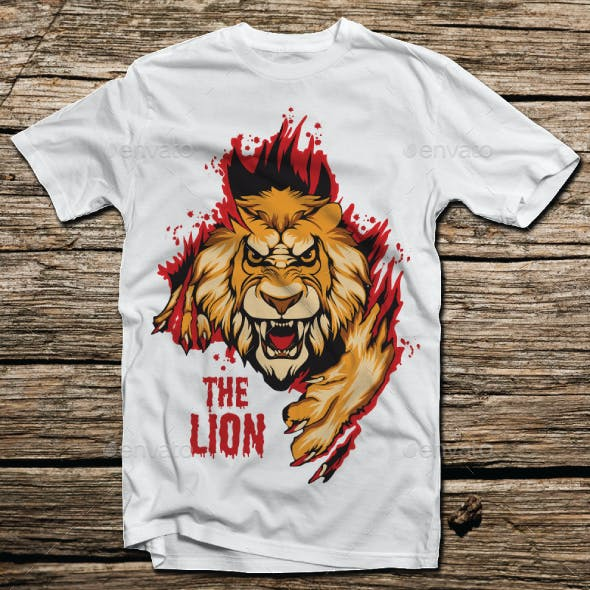 The Lion Design Tshirt