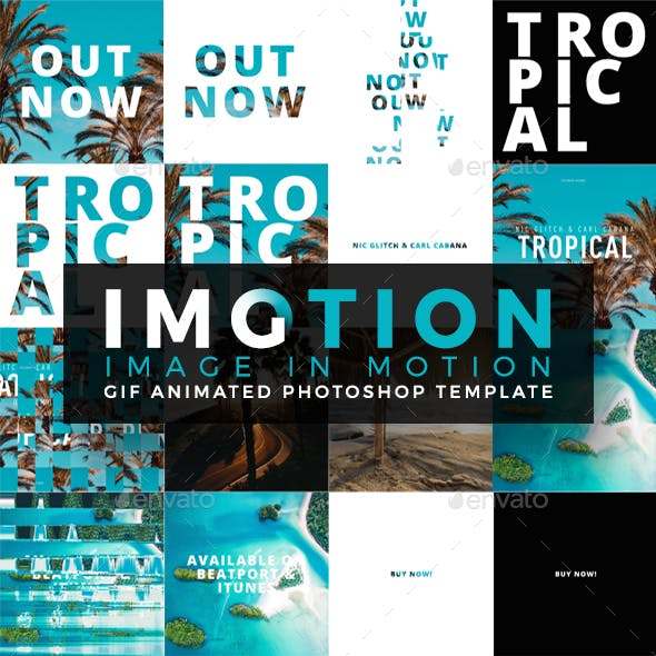 Imotion - Gif Animated Photoshop Template