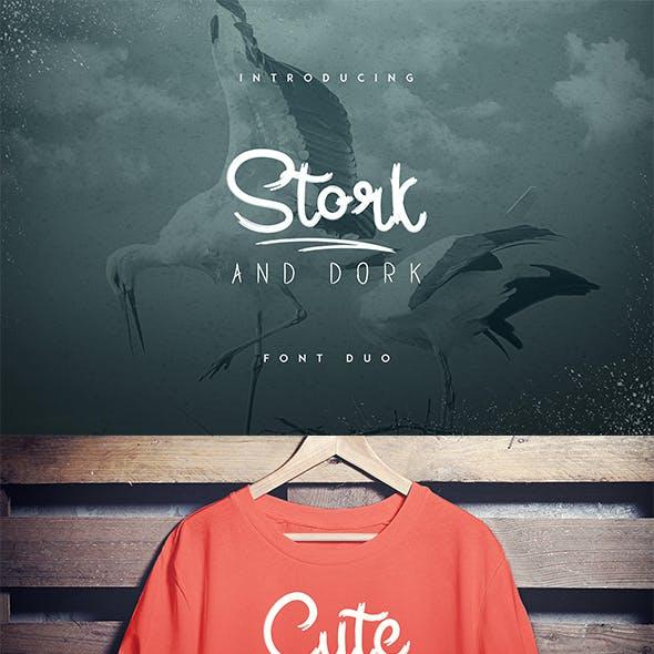 Stork and Dork font duo
