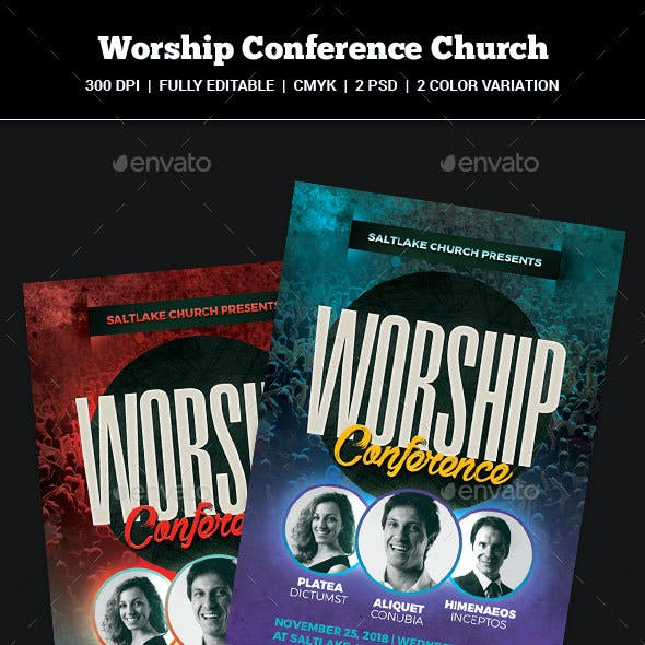 Worship Conference Church Flyer