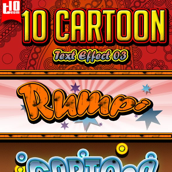 10 Cartoon Text Effect 3