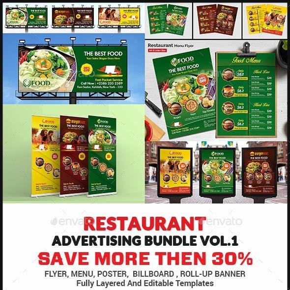 Restaurant Advertising Bundle Vol.1