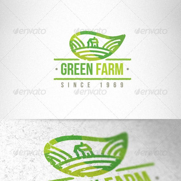 Green Farm Organic Creative Logo Template