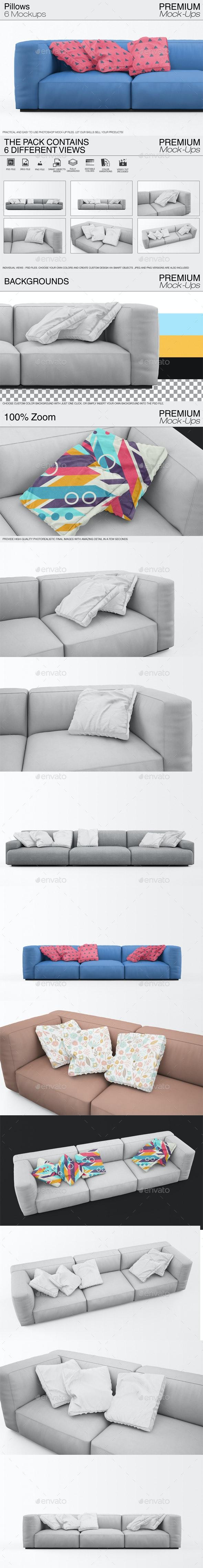 Pillow Mockups - Print Product Mock-Ups