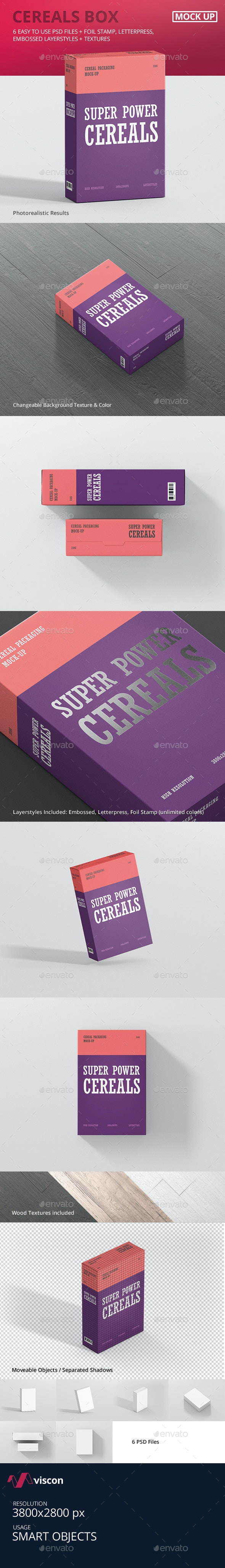 Cereals Box Mockup - Food and Drink Packaging
