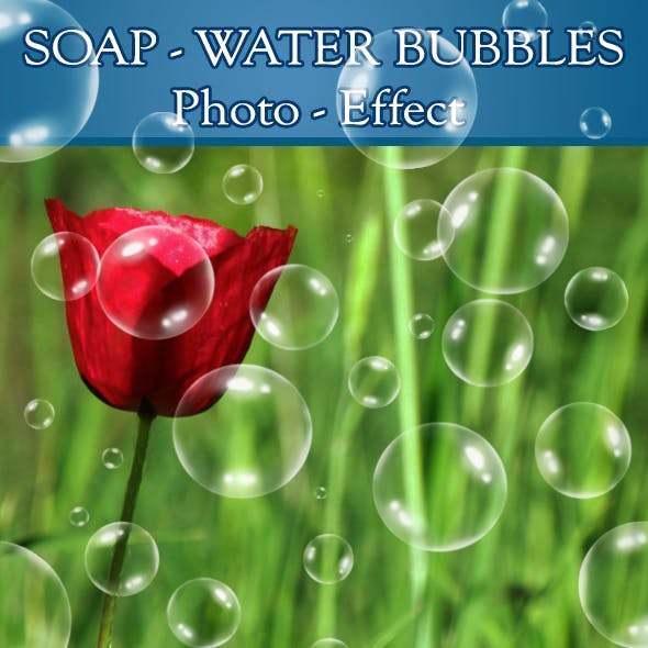 16 Soap - Water Bubbles Brushes - Photo Effect