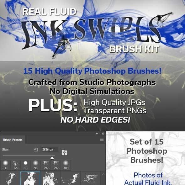 Real Fluid Ink Swirls Brush Kit