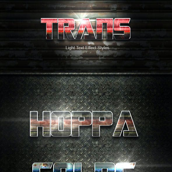 Trans Text Effect V46