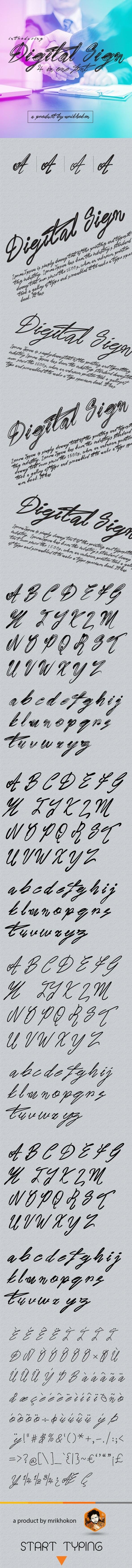 Digital Sign - Hand-writing Script