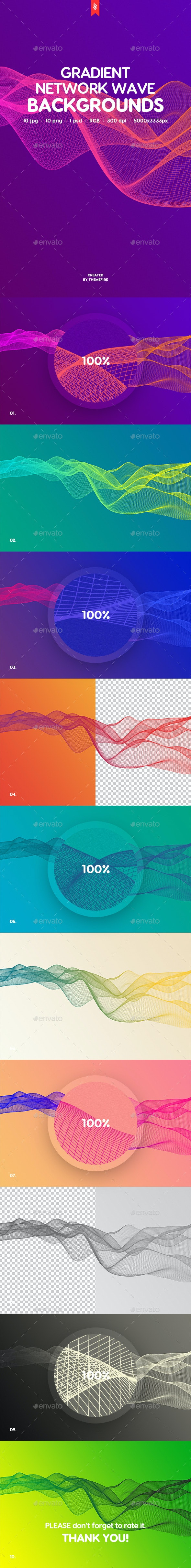 Gradient Network Wave Backgrounds - Abstract Backgrounds