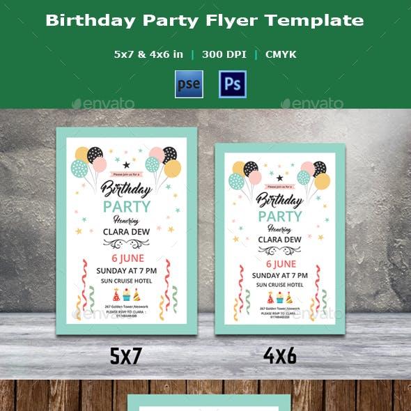 Birthday Party Invitation Flyer V21