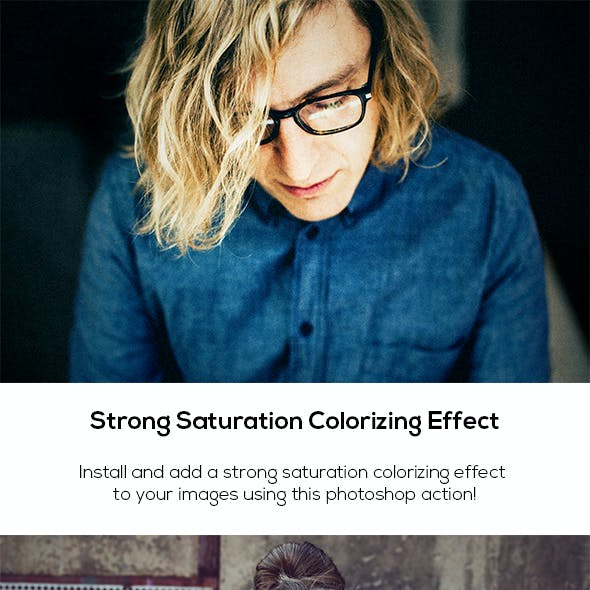 Strong Saturation Colorizing Effect
