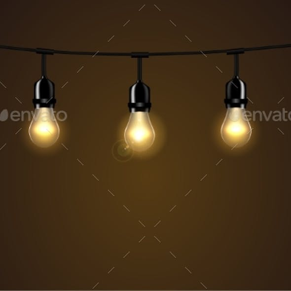 Lights Isolated Realistic Design Elements